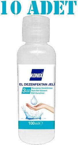 Konix El Dezenfektan Jeli 100 ml 10 Adet Ücretsiz Kargo