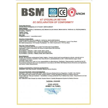 BSM 1 kutu 50 Adet Lastikli Burun Telli CE Belgeli Ultrasonik Gövde 3 Katlı Cerrahi Maske