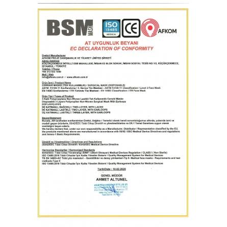 BSM  EKO Mavi Yassı Lastikli  3 Katlı Cerrahi Maske Toplam 150 Adet