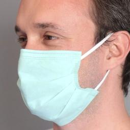 BSM Relax YEŞİL Yassı Lastikle Extra Konfor Cerrahi Maske Toplam 50 Adet