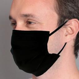 BSM Relax SİYAH Yassı Lastikle Extra Konfor Cerrahi Maske Toplam 100 Adet
