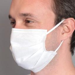 BSM 3 Katlı Yassı Lastikli  Cerrahi Maske 5 KUTU Toplam 250 Adet