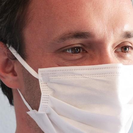 BSM Relax Beyaz Yassı Lastikle Extra Konfor Cerrahi Maske Toplam 50 Adet