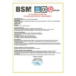 BSM Gülen Yüz Desenli Yassı lastikli 3 Katlı Cerrahi Çocuk Maskesi Toplam 100 Adet
