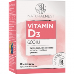 NaturalNest Vitamin D3 600 IU 10 ml Sprey