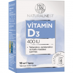 NaturalNest Vitamin D3 400 IU 10 ml Sprey