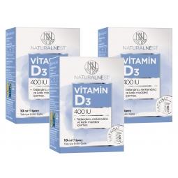 NaturalNest Vitamin D3 400 IU 10 ml Sprey 3 Kutu